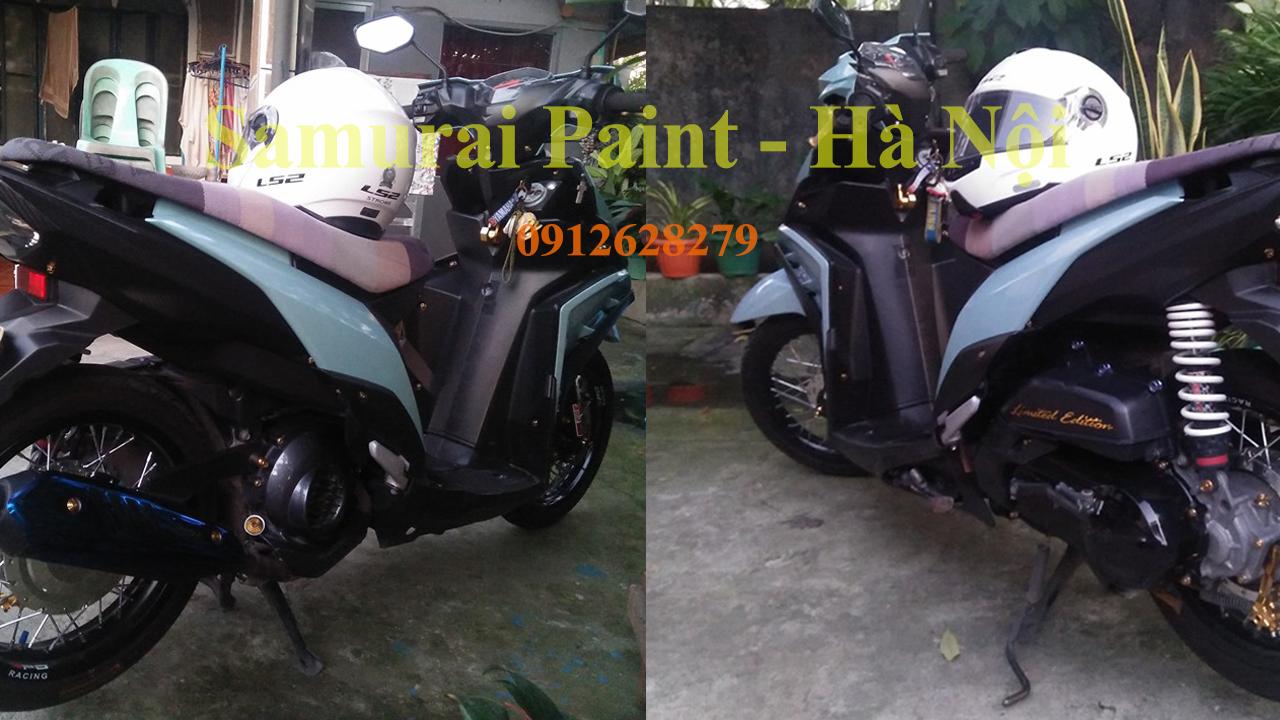 Dàn áo xe máy được sơn bằng sơn Samurai